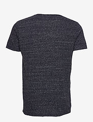 Lindbergh - Neps structure tee S/S - lyhythihaiset - dk blue - 1