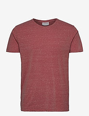 Lindbergh - Neps structure tee S/S - lyhythihaiset - dusty red - 1