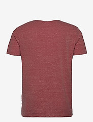 Lindbergh - Neps structure tee S/S - lyhythihaiset - dusty red - 2