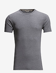 Lindbergh - Basic t-shirt S/S - short-sleeved t-shirts - grey mel - 0