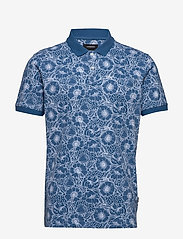 Lindbergh - AOP 2 colour polo S/S - short-sleeved polos - blue - 1