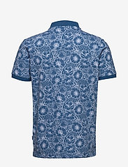 Lindbergh - AOP 2 colour polo S/S - short-sleeved polos - blue - 2