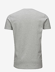 Lindbergh - Mens stretch v-neck tee s/s - short-sleeved t-shirts - grey mel - 1