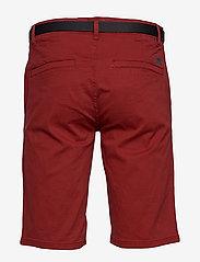 Lindbergh - Classic chino shorts w. belt - chinot - dusty red - 2