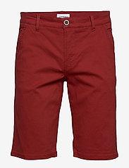 Lindbergh - Classic chino shorts w. belt - chinot - dusty red - 3