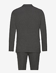 Lindbergh - Seersucker checked suit - single breasted suits - grey check - 1