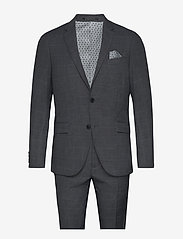 Lindbergh - Checked suit - enkeltkneppede dresser - grey check - 0