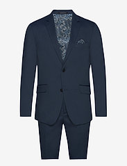 Lindbergh - Structure suit - single breasted suits - blue - 0