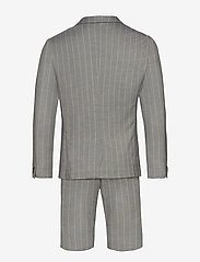 Lindbergh - Striped suit w/shorts - casual shorts - grey - 1