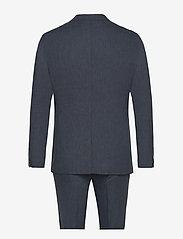 Lindbergh - Cotton linen suit - yksiriviset puvut - dk blue mix - 1