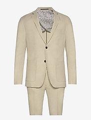 Lindbergh - Cotton linen suit - single breasted suits - sand mix - 0