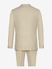 Lindbergh - Cotton linen suit - single breasted suits - sand mix - 1