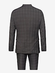 Lindbergh - Checked mens suit - enkeltkneppede dresser - grey check - 1
