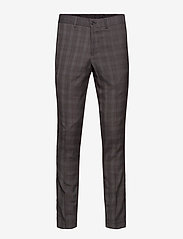 Lindbergh - Checked mens suit - enkeltkneppede dresser - grey check - 2