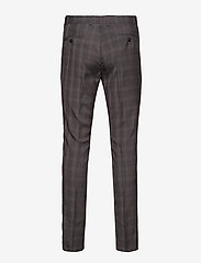 Lindbergh - Checked mens suit - enkeltkneppede dresser - grey check - 3