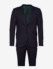 Lindbergh - Striped suit - yksiriviset puvut - dk blue - 1
