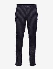Lindbergh - Striped suit - yksiriviset puvut - dk blue - 3