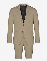 Plain mens suit - BEIGE