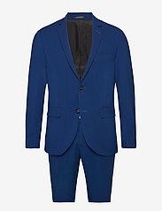 Lindbergh - Plain mens suit - enkeltkneppede dresser - blue - 0