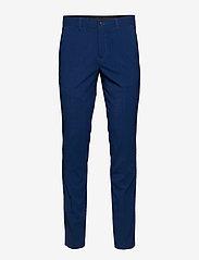 Lindbergh - Plain mens suit - enkeltkneppede dresser - blue - 2