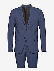 Lindbergh - Plain mens suit - yksiriviset puvut - blue mel - 1