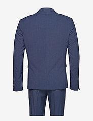 Lindbergh - Plain mens suit - yksiriviset puvut - blue mel - 2