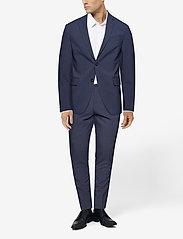 Lindbergh - Plain mens suit - yksiriviset puvut - blue mel - 3