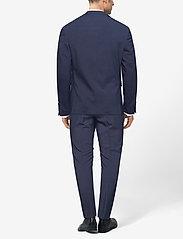 Lindbergh - Plain mens suit - yksiriviset puvut - blue mel - 4