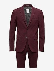 Lindbergh - Plain mens suit - yksiriviset puvut - bordeaux mel - 1