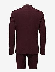 Lindbergh - Plain mens suit - yksiriviset puvut - bordeaux mel - 2