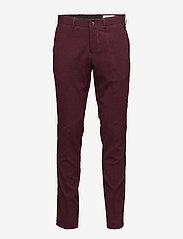 Lindbergh - Plain mens suit - yksiriviset puvut - bordeaux mel - 3