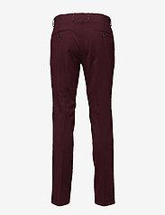 Lindbergh - Plain mens suit - yksiriviset puvut - bordeaux mel - 4