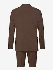 Lindbergh - Plain mens suit - yksiriviset puvut - brown mel - 1