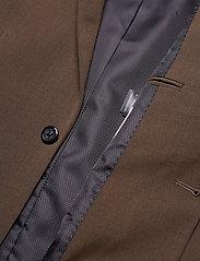 Lindbergh - Plain mens suit - yksiriviset puvut - brown mel - 4