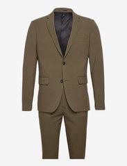 Plain mens suit - DEEP ARMY