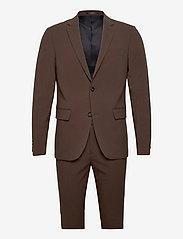 Plain mens suit - DEEP BROWN