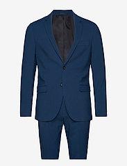 Lindbergh - Plain mens suit - yksiriviset puvut - dk blue - 1