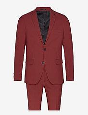 Plain mens suit - DUSTY RED
