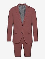 Plain mens suit - DUSTY ROSE