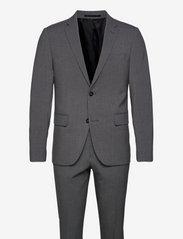 Plain mens suit - GREY MIX