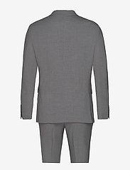 Lindbergh - Plain mens suit - yksiriviset puvut - lt grey mel - 2