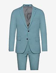 Plain mens suit - SEA BLUE