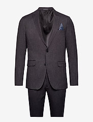 Lindbergh - Pin striped suit - costumes simple boutonnage - dk grey mel - 1