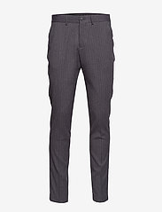 Lindbergh - Pin striped suit - costumes simple boutonnage - dk grey mel - 8