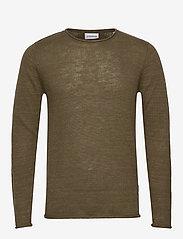 Lindbergh - Casual knit - basic knitwear - army mel - 0