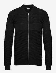Lindbergh - Structured cardigan - perusneuleet - black - 1