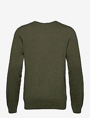 Lindbergh - Mélange round neck knit - perusneuleet - army mel - 2