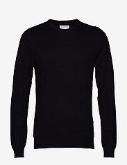 Lindbergh - Mélange round neck knit - perusneuleet - black - 1
