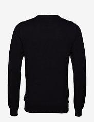 Lindbergh - Mélange round neck knit - perusneuleet - black - 2