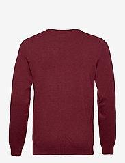 Lindbergh - Mélange round neck knit - perusneuleet - dk red mel - 2
